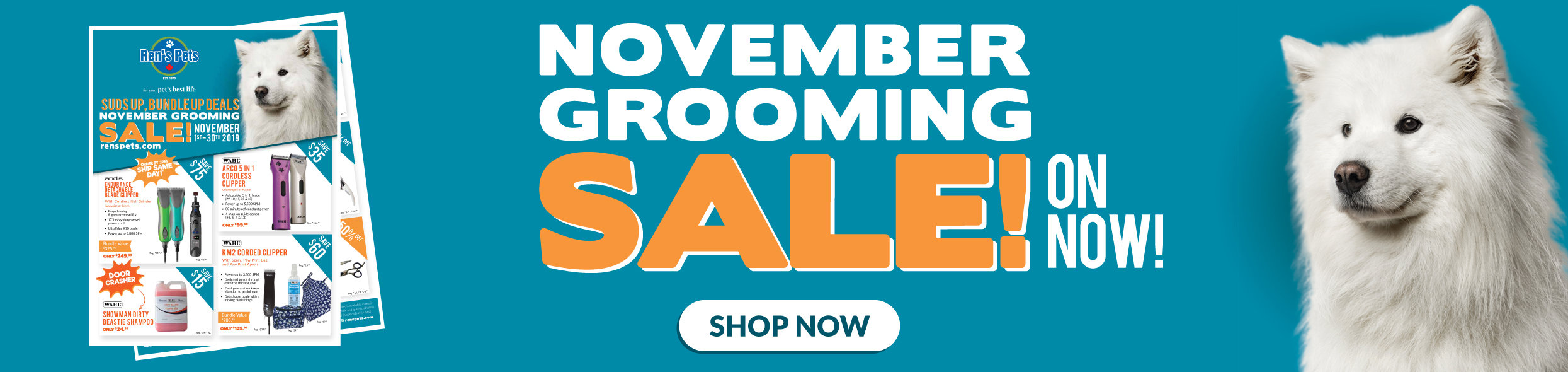 November Grooming Sale
