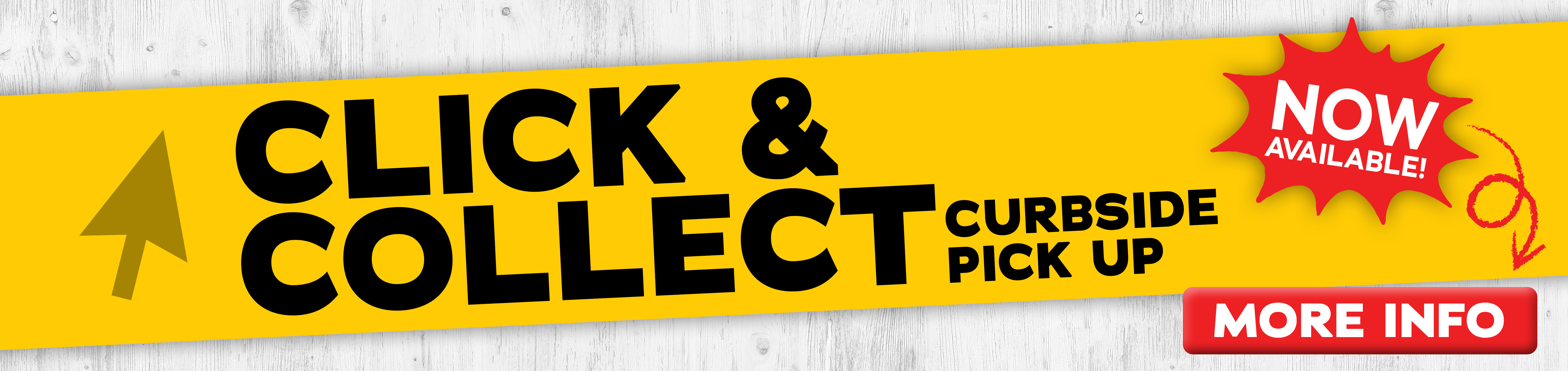 Click & Collect Curbside Pick Up Now Available
