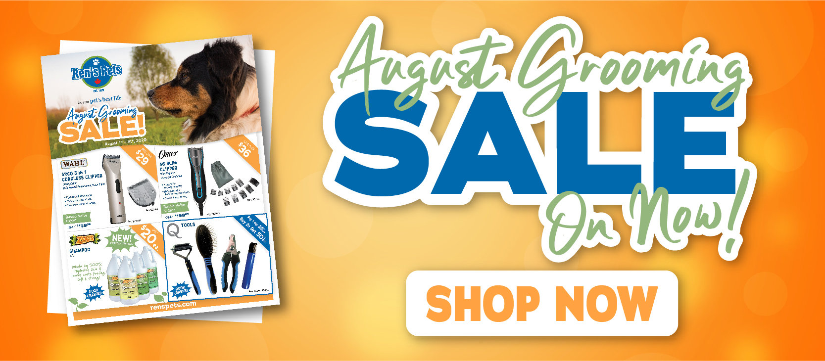 August Grooming Sale