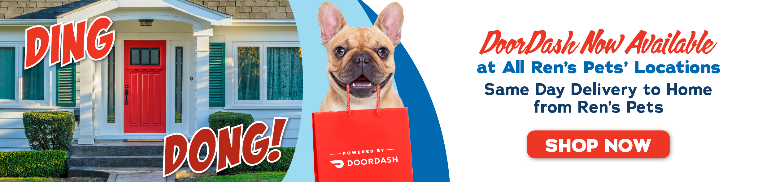 Ding Dong! DoorDash Now Available at all Ren's Pets' locations. Same-Day Delivery to Home from Ren's Pets
