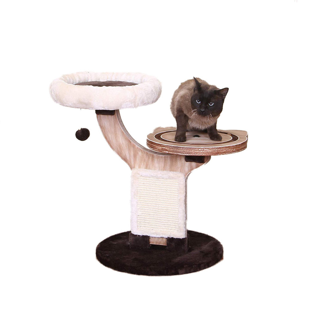 View larger image of 2 Level Cat Tree - Natural Wood