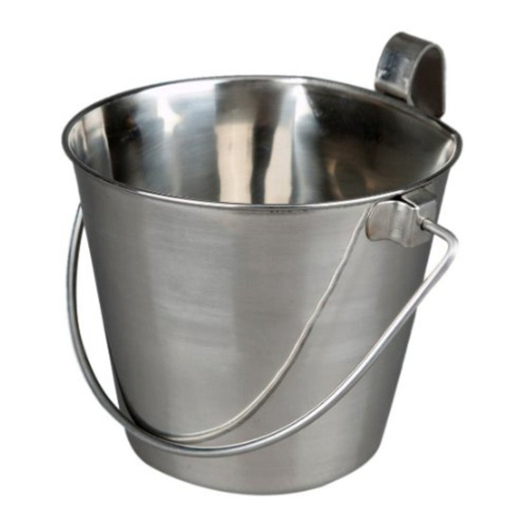View larger image of Stainless Steel Bucket with Hook, Flat Side - 6 Qt