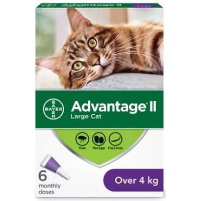 Advantage II, Advantage II - Feline Adult - 4 kg+