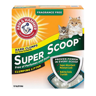 Super Scoop Unscented Clumping Litter - 30 lb