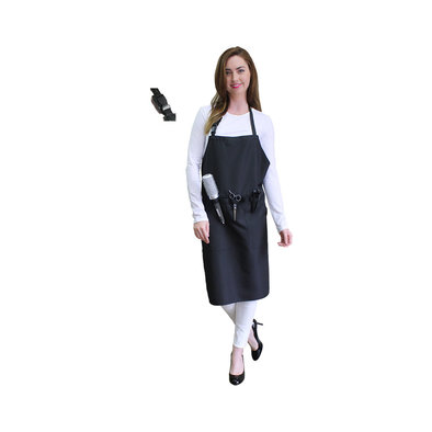 Apron with Pockets & Belt - Black