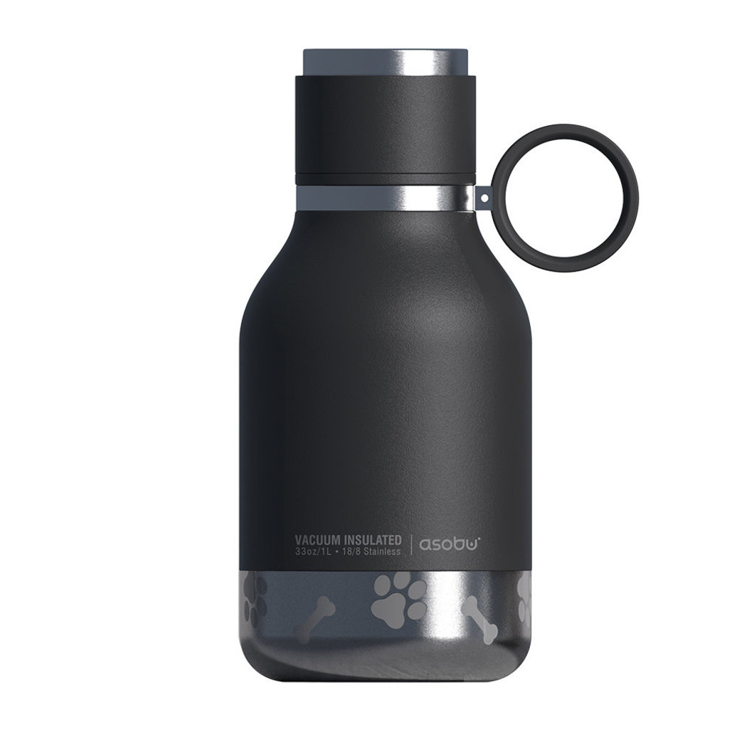 View larger image of Dog Bowl Bottle - Stainless Steel - Black