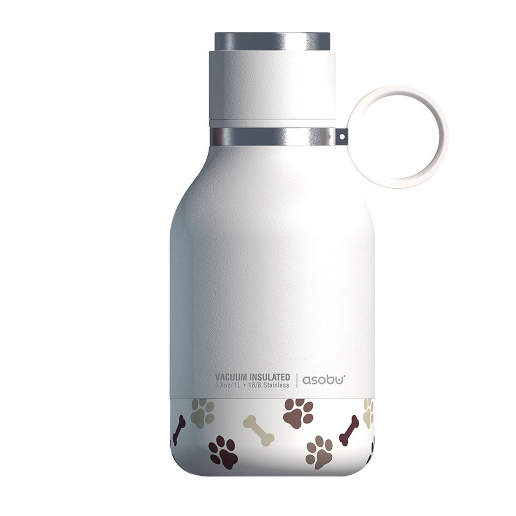 View larger image of Dog Bowl Bottle - Stainless Steel - White