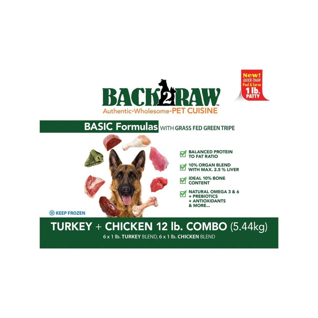 View larger image of Basics, Patty - Turkey Blend & Chicken Blend - 5.44 kg(12x0.45kg)