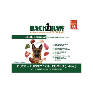 Basics, Patty - Turkey Blend/Duck Blend - 5.44 kg(12x0.45kg)