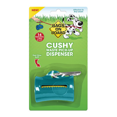 Cushy Dispenser - Teal - 14 bags