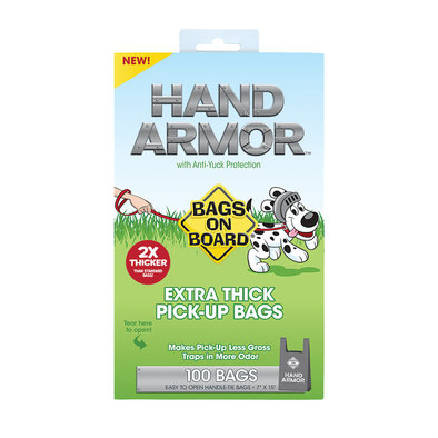 Hand Armour Extra Thick Handle Tie Bags - 100 Ct