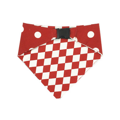 Bandana Reversible - Red & White