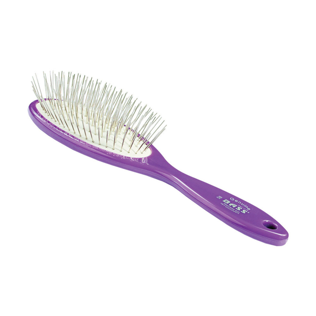 View larger image of Alloy Pin Brush - Purple - Medium Oval