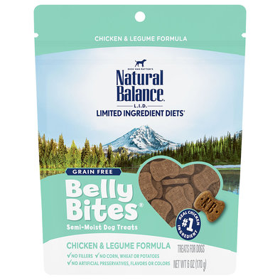 Belly Bites, Chicken & Legume Dog Treats - 6 oz