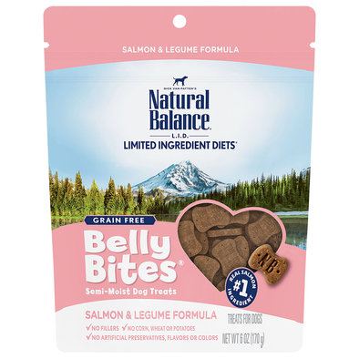 Belly Bites, Salmon & Legume Dog Treats - 6 oz