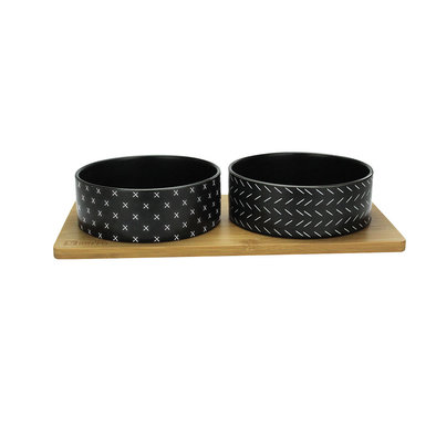 Bamboo & Ceramic Bowl - Black