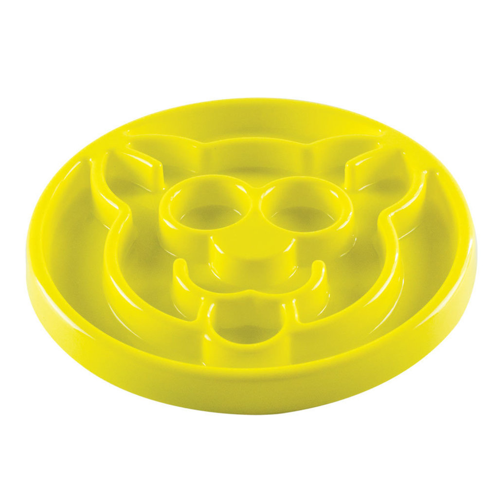 View larger image of Feline, Slow Feeder - Yellow - 8""