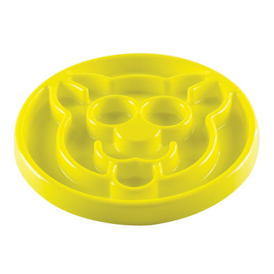 Feline, Slow Feeder - Yellow - 8""