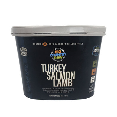 Turkey Salmon Lamb - 4 lb Tub