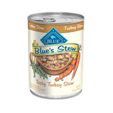 Canned Dog Food, Blue's Stew, Tasty Turkey - 354 g