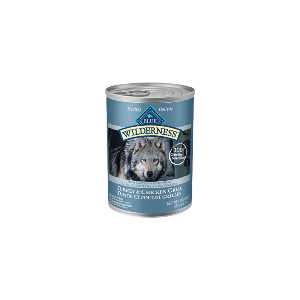 View larger image of Canned Dog Food, Wilderness, Turkey & Chicken Grill - 354 g