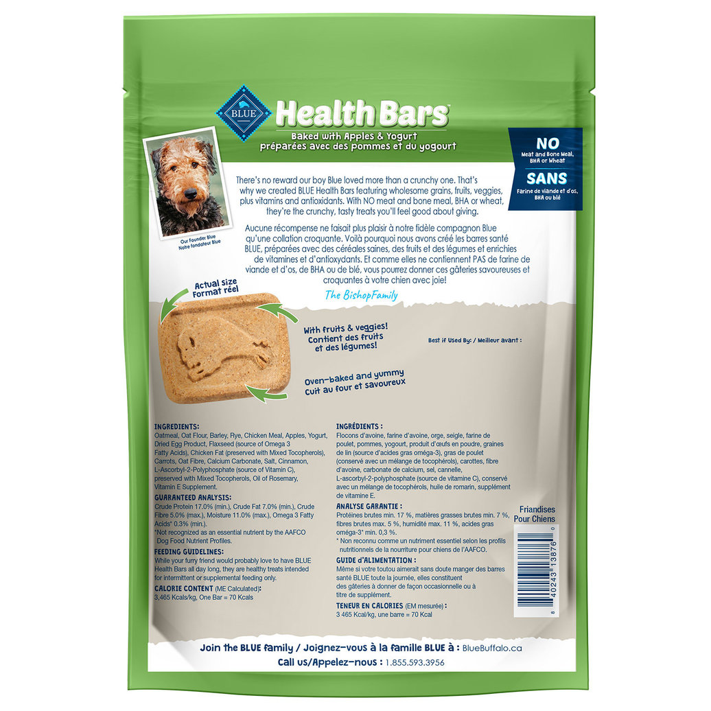 View larger image of Health Bars Apple & Yogurt - 453 g