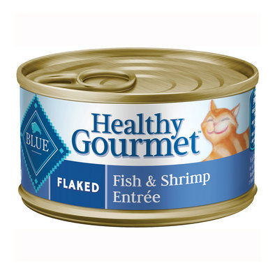 Healthy Gourmet, Flaked Fish & Shrimp Adult Canned Cat Food - 156 g