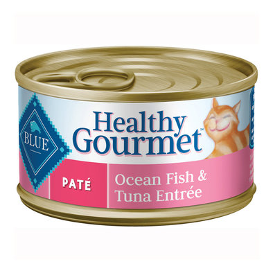 Healthy Gourmet, Pate Ocean Fish & Tuna Adult Canned Cat Food - 156 g