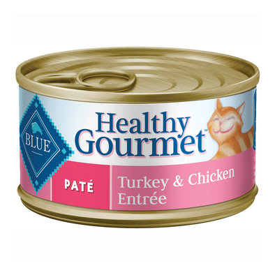 Healthy Gourmet, Pate Turkey & Chicken Adult Canned Cat Food - 156 g