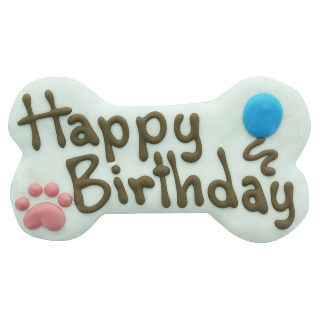 """View larger image of Birthday Collection, Happy Birthday Bone - White - 6"""""""