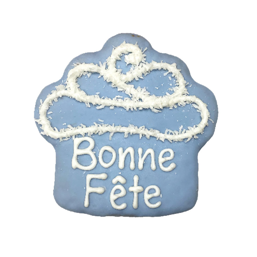 View larger image of Bonne Fete Cupcake - Blue