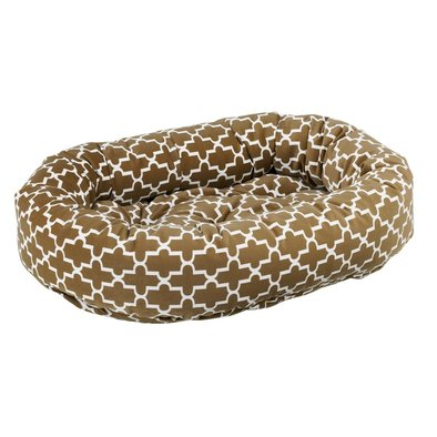 Donut Bed, Microvelvet - Cedar Lattice - X-Small