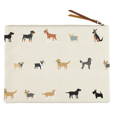 Canvas Pouch Happy Breeds