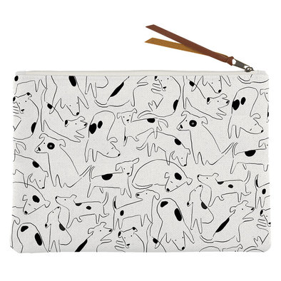 Canvas Pouch Nosey Dog Spot