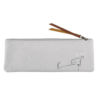 Canvas Pouch Nosey Dog Woof