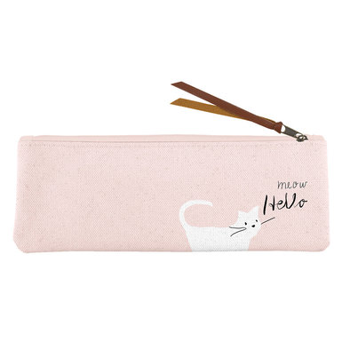 Canvas Pouch Whisker Cat Meow