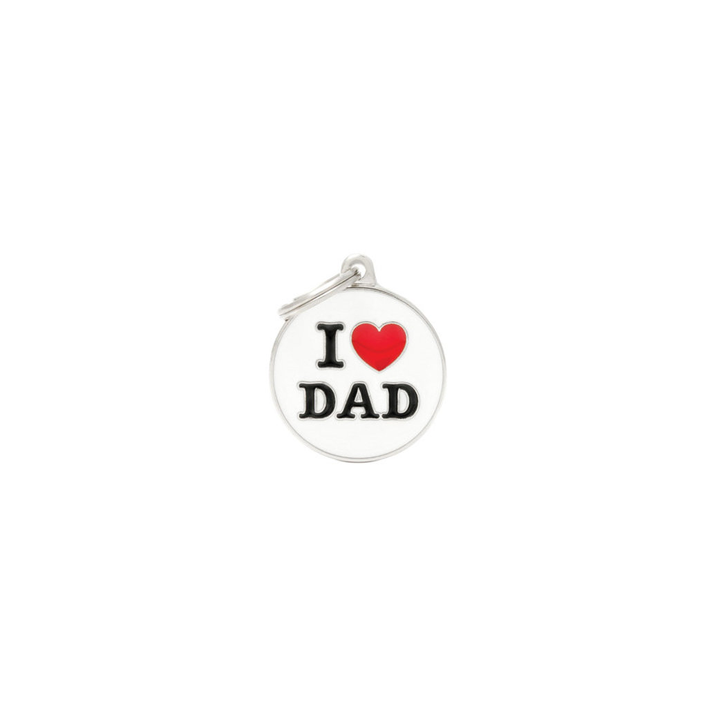 View larger image of Charms, I Love Dad Tag