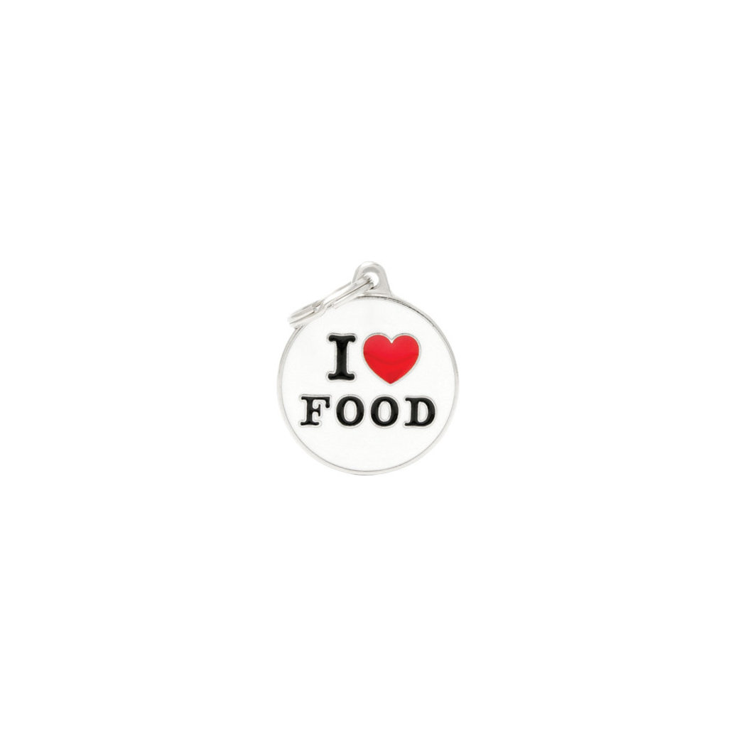 View larger image of Charms, I Love Food Tag