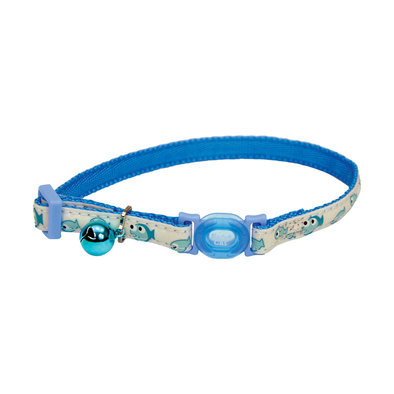 Breakaway Collar - Glow Blue Fish