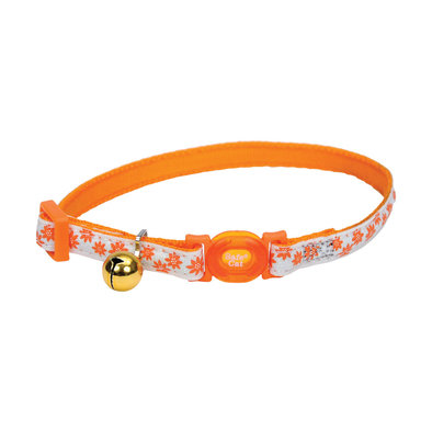 Breakaway Collar - Glow Orange Flower