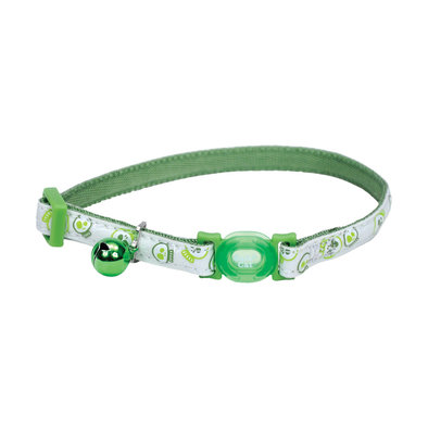 Breakaway Collar - Green Lime Skulls