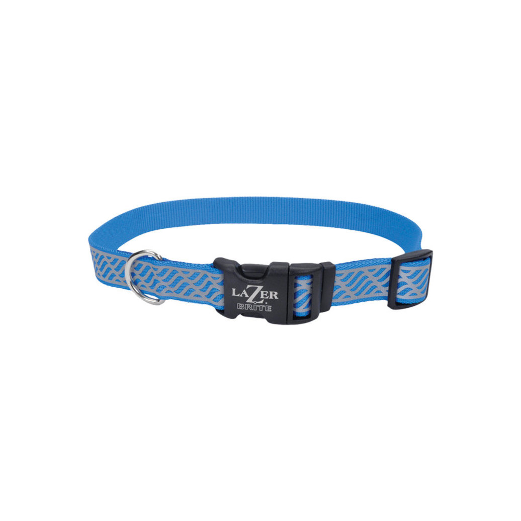 View larger image of Collar - Lazer Brite Reflect -Blue Lagoon Wave