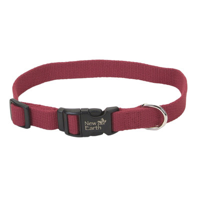 """Collar - New Earth Soy - Cranberry - 3/4"""" Width -12-18"""""""