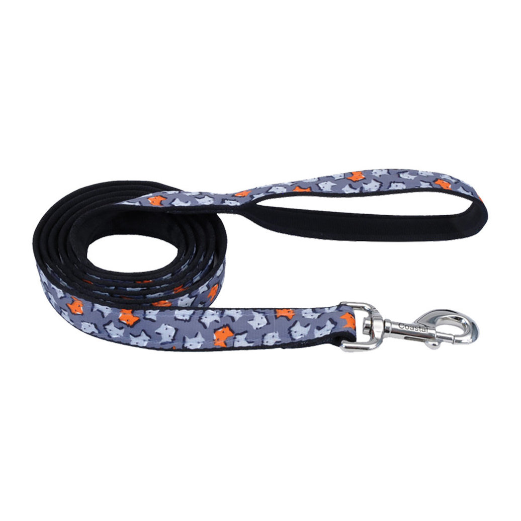 """View larger image of Leash - Foxes - 1"""" Width - 6'"""