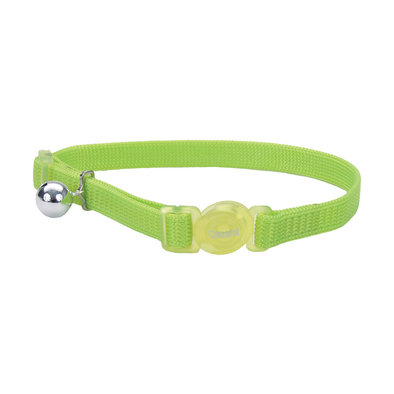 Nylon Breakaway Collar - Lime - 3/8""