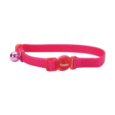 Nylon Breakaway Collar - Pink Flamingo - 3/8""