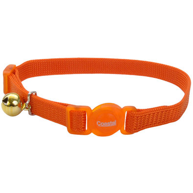 Nylon Breakaway Collar - Sunset Orange - 3/8""