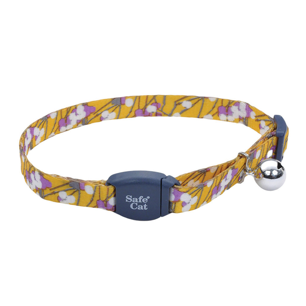 View larger image of Safe Cat Collar Buckle - Charcoal Stemmed Flower - 3/8""