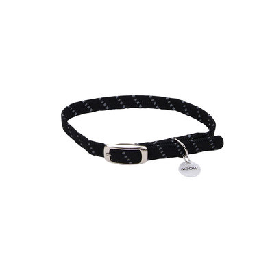 Safety Stretch Collar - Black w/ Charm