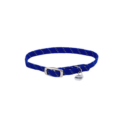 Safety Stretch Collar - Blue w/ Charm